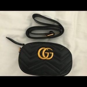 Handbags - Black GG Belt Bag
